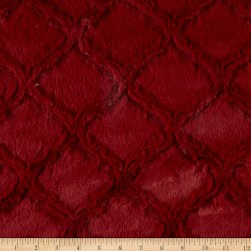 Shannon Minky Luxe Cuddle Lattice Garnet Fabric