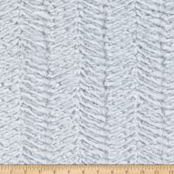 Shannon Minky Luxe Cuddle Ziggy Snow Fabric