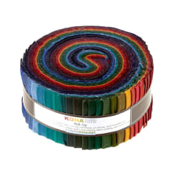 "Kona Cotton New Dark 2.5"" Roll Ups"