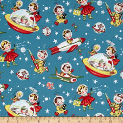 Michael Miller Retro Rocket Rascals Multi