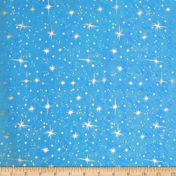 Ice Organza Silver Star Turquoise