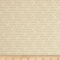 Downton Abbey II Words Cream Fabric