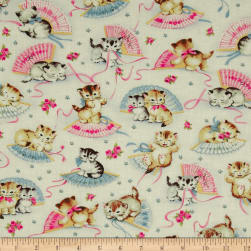 Michael Miller Smiten Kittens Cream Fabric