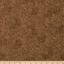 Essentials Scroll Medium Brown Fabric