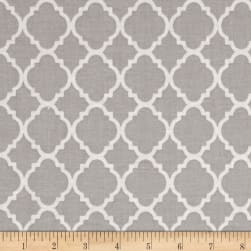 Quatrefoil Grey/White Fabric