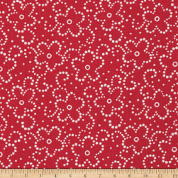Daisy Floral Red/White