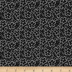 Daisy Floral Black/White Fabric