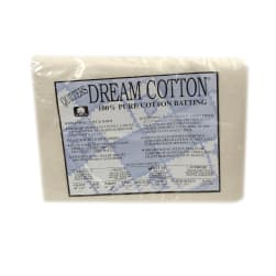 "Quilter's Dream Natural Cotton Deluxe Batting (60"" x 60"") Throw"