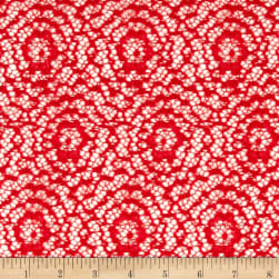 Argentella Stretch Lace Red Fabric