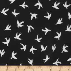 Telio Moda Crepe Bird Black/White