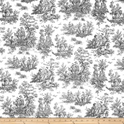 Premier Prints Jamestown Toile Black Fabric