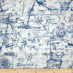 Premier Prints Schooner Nautical Fabric