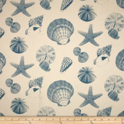 Premier Prints Shells Pacific/Natural Fabric
