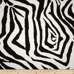 Premier Prints Zebra Black Fabric
