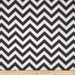 Premier Prints Zig Zag Blue Fabric