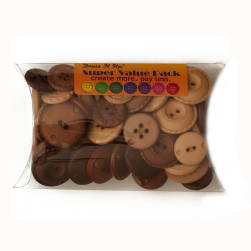 Dress It Up Super Value Pack Buttons Biscotti Brown