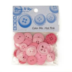 Dress It Up Color Me Collection Buttons Hot Pink