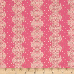 Make Do and Mend Lace Stripe Pink