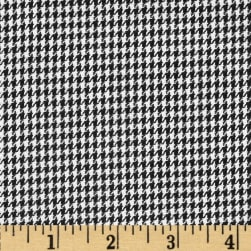 Kaufman Yarn Dyed Houndstooth Shirting Black Poplin Fabric