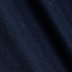 Kaufman Bi Stretch Tropical Suiting Navy Twill Fabric