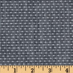 Kaufman Chambray Union Dots Indigo Fabric