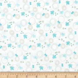 Cherry Blossom Festival Birds & Butterflies White/Light Turquoise