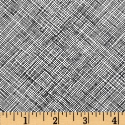 Architextures Grid Plaid Black Fabric