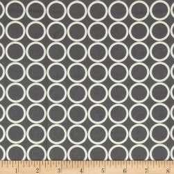 Metro Living Circles Pewter Fabric