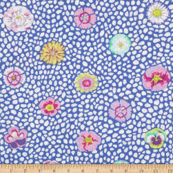 Kaffe Fasset Collective Guinea Flower Blue Fabric