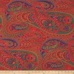 Kaffe Fasset Collective Paisley Jungle Rust Fabric