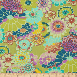 Kaffe Fassett Collective Asian Circles Chartruese Fabric
