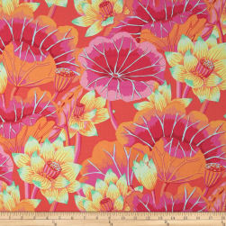 Kaffe Fassett Collective Lake Blossoms Magenta Fabric