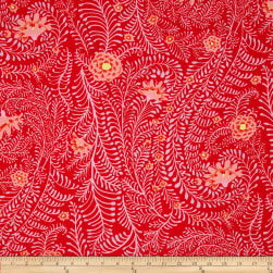 Kaffe Fassett Collective Ferns Red Fabric