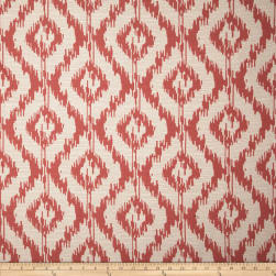 Eroica Tribal Jacquard Coral Fabric
