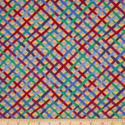 Kaffe Fassett Collective Mad Plaid Beige Fabric