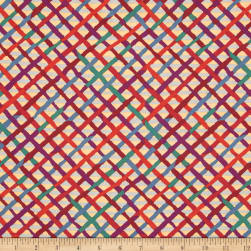 Kaffe Fassett Collective Mad Plaid Curry Fabric