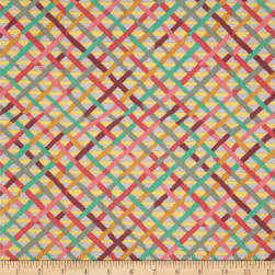 Kaffe Fassett Collective Mad Plaid Mauve Fabric