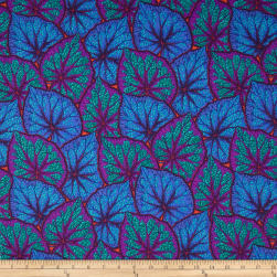 Kaffe Fassett Collective Begonia Leaves Cobalt Fabric