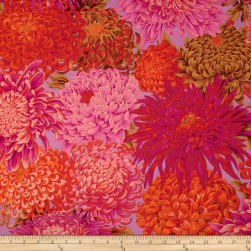 Kaffe Fassett Collective Japanese Chrysanthemum Pink Fabric