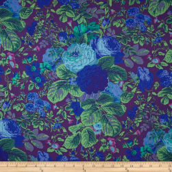 Kaffe Fassett Collective Grandi Floral Purple Fabric