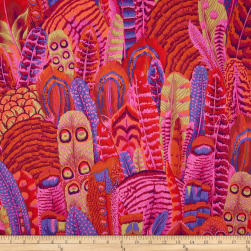 Kaffe Fassett Collective Feathers Red