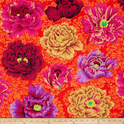 Kaffe Fassett Collective Brocade Peony Wine Fabric