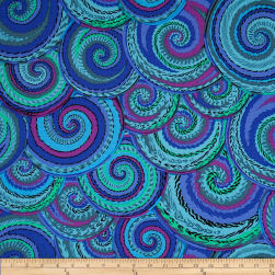 Kaffe Fassett Collective Curly Baskets Cobalt Fabric