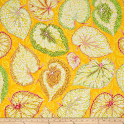 Kaffe Fassett Collective Big Leaf Yellow Fabric