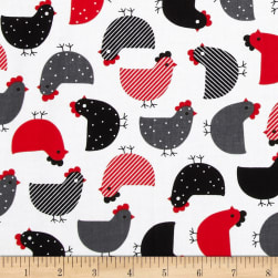 Urban Zoologie Chicks Red Fabric