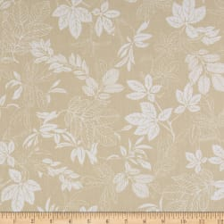 "108"" Wide Quilt Back Modern Leaf Sand/White"