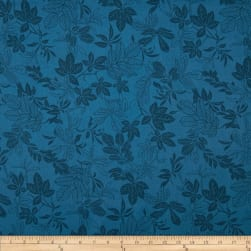 "108"" Wide Quilt Back Modern Leaf Federal Blue"