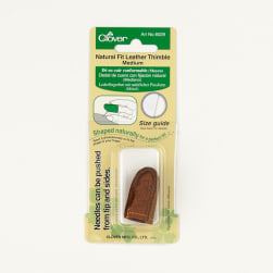 Clover Natural Fit Leather Thimble Medium