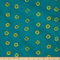 Alison Glass Hand Dye Batiks Dots Teal Fabric