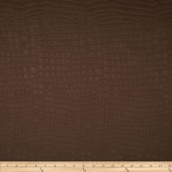 Golding Crocodile Flannel Back Satin Espresso Fabric